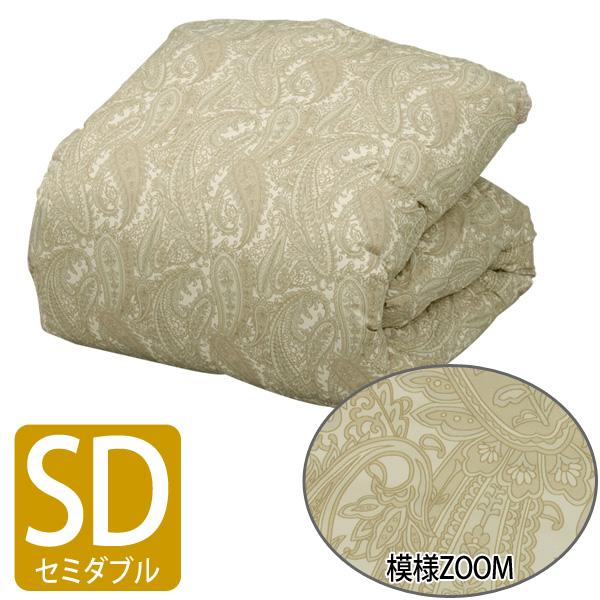 【送料無料】【アイリスオーヤマ】国産羽毛布団 FUJG-SD セミダブル ペイズリー