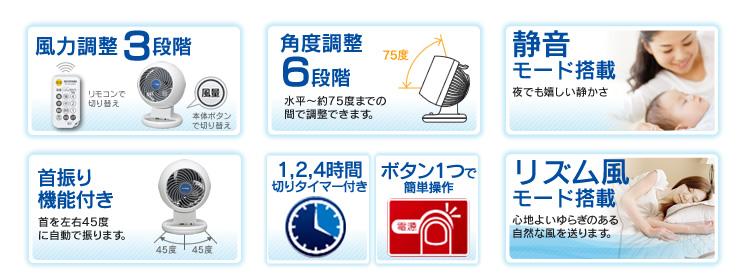 扇風機 アイリスオーヤマ 強力コンパクトサーキュレーター 上下左右首振りタイプ Iシリーズ PCF-C15T 新生活 [p10☆] 父の日