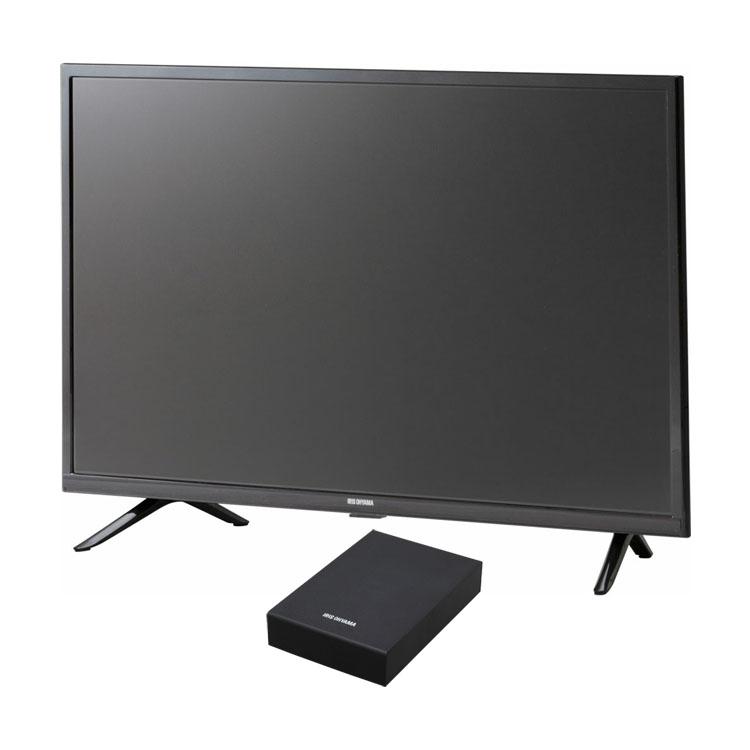 テレビ 32型 Fiona 32WB10P 外付けHDDセット品送料無料 テレビ アイリスオーヤマ テレビ HDD セット TV 2K 32V 32型 外付け ハードディスク