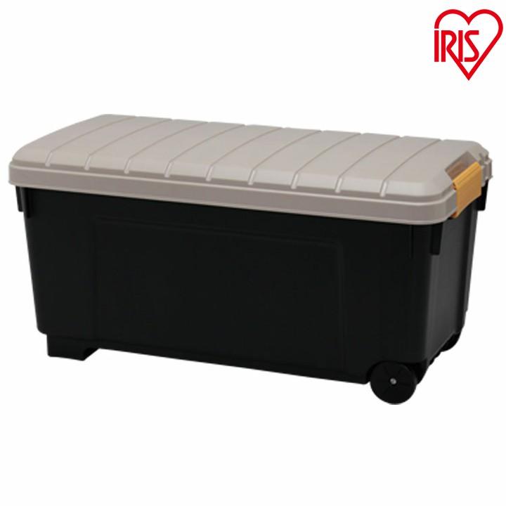 【送料無料】お得な2個セット RVBOX エコロジーカラー 1000 カーキ/ブラック ハードケース 屋外収納 工具入れ トランク収納 車 ガーデン RVボックス 新生活
