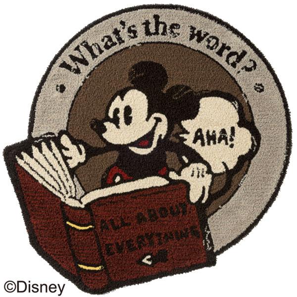MICKEY/Dictionary RUG DRM-4032 110×110 ラグ カーペット ディスニー ミッキー 日本製 アンティーク おしゃれ キャラクター 防ダニ 耐熱加工 【TD】【スミノエ】
