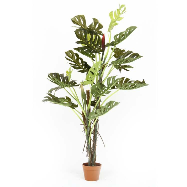 観葉植物 スプリット 22 GR 52667送料無料 フェイクグリーン 人工観賞植物 インテリア おしゃれ リビング 緑 お部屋 玄関 リビング お手入れ簡単 不二貿易 【D】