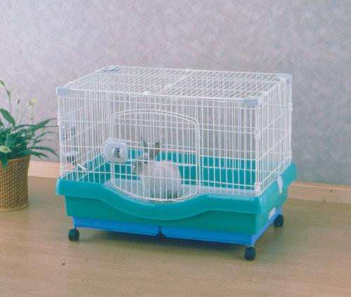 小動物快適ケージ RU-800 パステルグリーン ペット用品 ペットと暮らす 飼育 生活用品 【アイリスオーヤマ】
