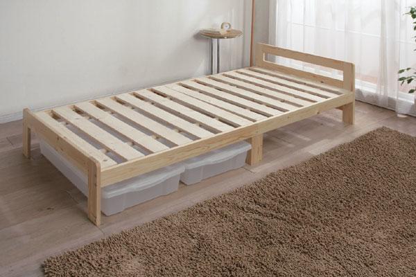 木製ベッド ナチュラル ベッド 寝室 新生活 シングルサイズ 布団 アイリスオーヤマ 【送料無料】 [BED]