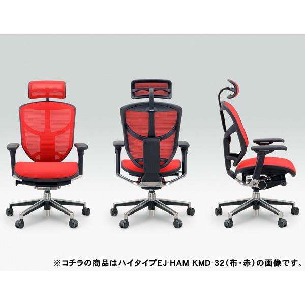 【TD】【送料無料】-エンジョイチェア- ハイブリット ENJOY-H[Ergohuman] EJ-HAM KM-10 (灰)・11 (黒)・12 (赤)・13 (橙)・14 (緑)・15 (青)・16 (白)【代引不可】【取寄せ品】