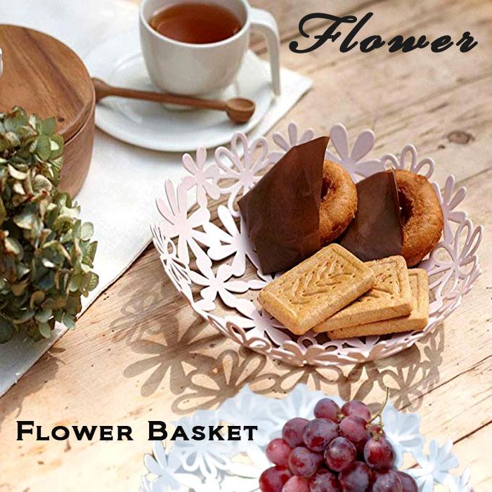 ブーケのようにお花を散りばめた可愛らしいバスケット。小物やフルーツを入れて飾れば、テーブルが華やかに。 YAMAZAKI フラワーバスケット バスケット お皿 皿 カゴ プレート かご 籠 花 お花 フラワー おしゃれ 北欧 フルーツ入れ お菓子入れ 果物入れ 小物収納 キッチン雑貨 キッチン用品 ホームパーティー ホワイト 6973 ピンク 6974