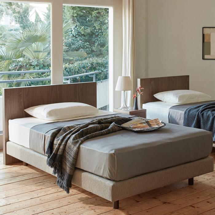 【お見積もり商品に付き、価格はお問い合わせ下さい】日本ベッドフレーム SD VINCENT AHE ビンセント AHEウォルナット+ベージュ E041 ウォルナット+ブラウン E042 ウォルナット+アイボリー E043セミダブルサイズ 寝具 ベッド フレーム
