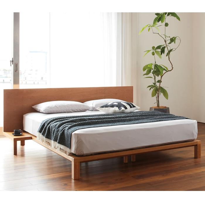 【お見積もり商品に付き、価格はお問い合わせ下さい】日本ベッドフレーム SD INEMA イネマ NT付き ナイトテーブル付きウォルナット C972 ブラックチェリー C971セミダブルサイズ 寝具 ベッド フレーム