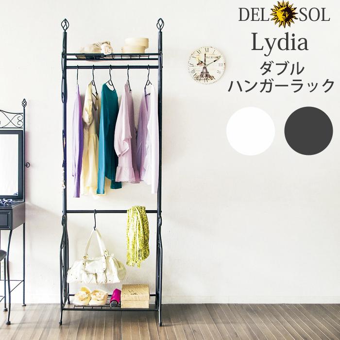 ※1月下旬以降です。【最大5,000円OFFクーポン配布中】【送料無料】ミヤタケ Del Sol(デルソル)ダブルハンガーラック DS-HS3226Nブラック ホワイト