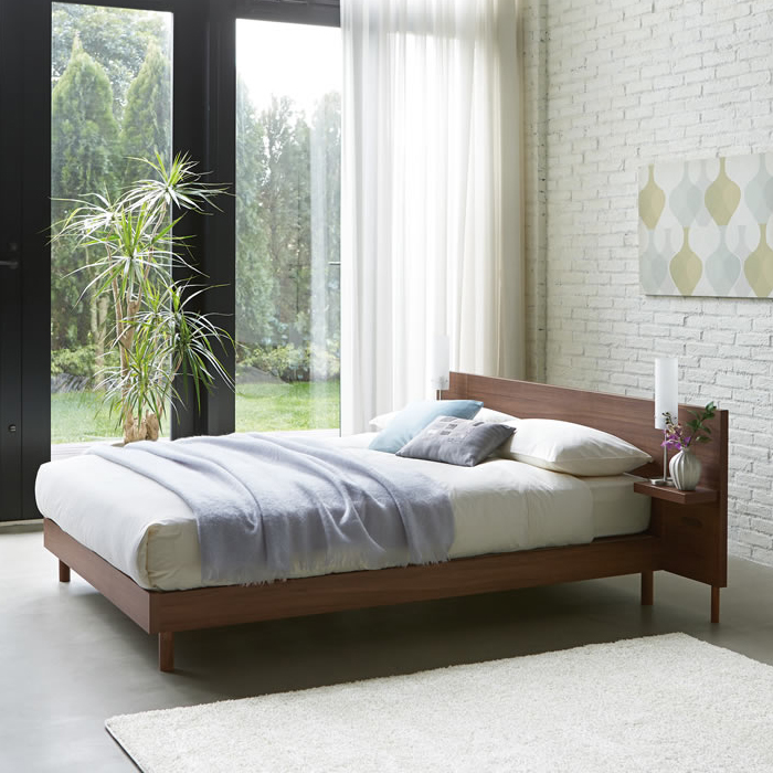 【お見積もり商品に付き、価格はお問い合わせ下さい】日本ベッドフレーム D CARRANO カラーノウォルナット C661 ダークブラウン C662 グレージュ C663 ブラウン C664 ナチュラル C665ダブルサイズ寝具 睡眠 寝室