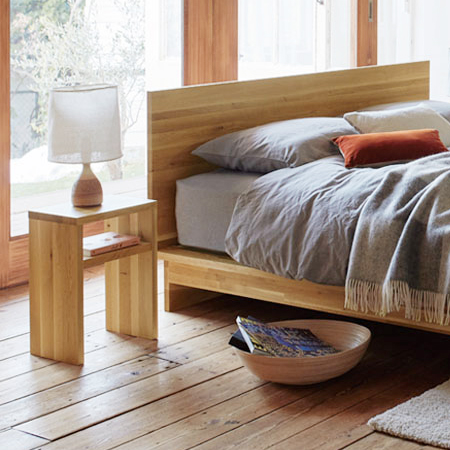 【お見積もり商品に付き、価格はお問い合わせ下さい】日本ベッド HILLCREST ヒルクレスト 専用 ナイトテーブルナチュラル 61333
