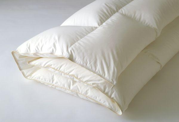 【お見積もり商品に付き、価格はお問い合わせ下さい】日本ベッド 羽毛掛ふとんプレミアムフォーター95(ホワイト)SD セミダブルサイズ・ D ダブルサイズ シルク マザーグースダウン スモールフェザー 抗菌 防臭加工