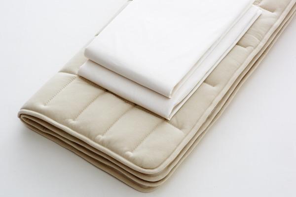 【お見積もり商品に付き、価格はお問い合わせ下さい】日本ベッド ベッドメーキングセットウールパッド フレックスメーキングセット 3点パック 50780D ダブルサイズ