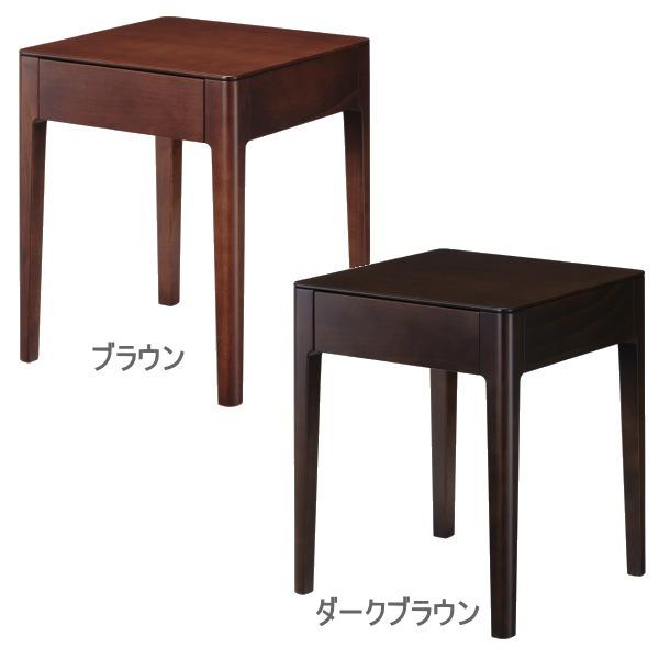 【お見積もり商品に付き、価格はお問い合わせ下さい】日本ベッド ソムノ専用ナイトテーブル 木製 寝室 家具NT-61313(ダークブラウン)/NT-61314(ブラウン)