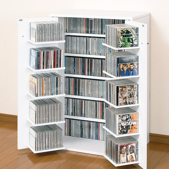 Put The CD Storage Racks DVD Bookshelf Arrangement Shelf Master Door Wood Made In Japan Domestic Furniture With
