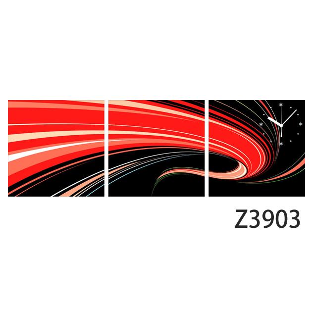 壁掛け時計 日本初!300種類以上のデザインから選ぶパネルクロック◆3枚のアートパネルの壁掛け時計◆hOur Design Z3903【イラスト】【アート】【代引不可】 送料無料