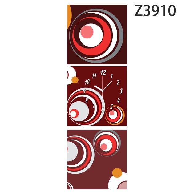 壁掛け時計 日本初!300種類以上のデザインから選ぶパネルクロック◆3枚のアートパネルの壁掛け時計◆hOur Design Z3910【イラスト】【アート】【代引不可】 送料無料