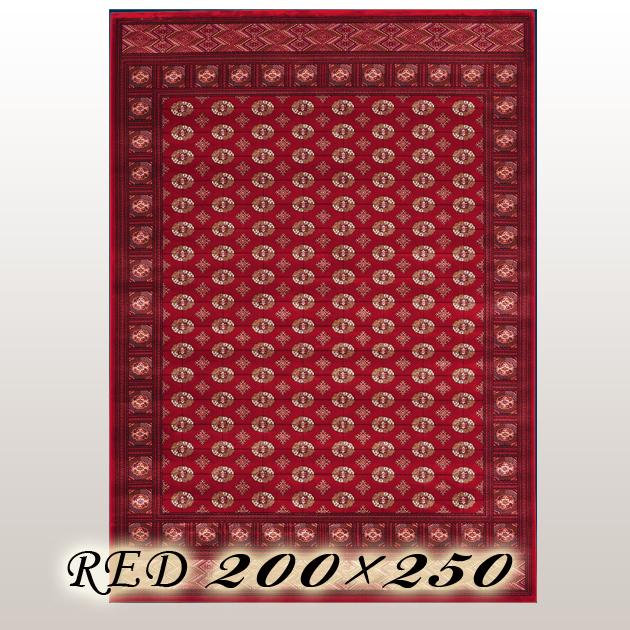 ラグ カーペット カーリン Carin ベルギー ウイルトン織 レッド 200×250cm