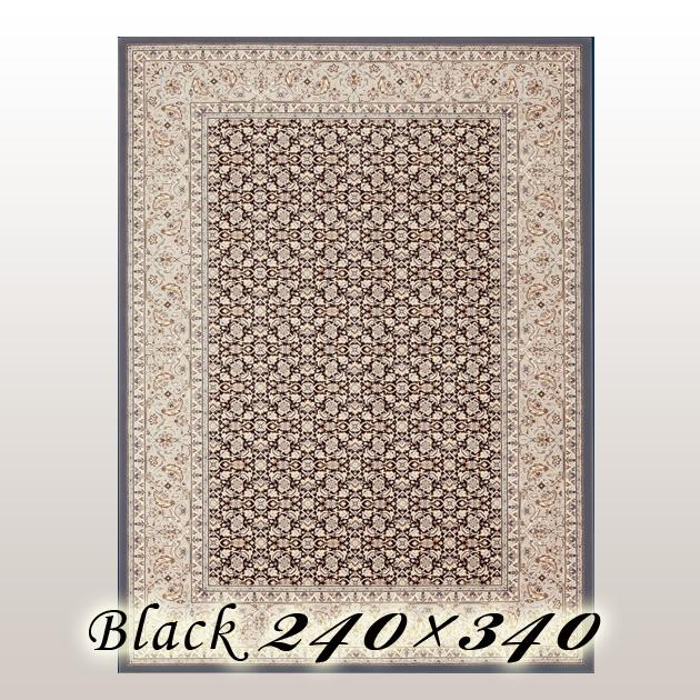 ラグ カーペット レーモ Remo ベルギー ウイルトン織 ブラック 240×340cm