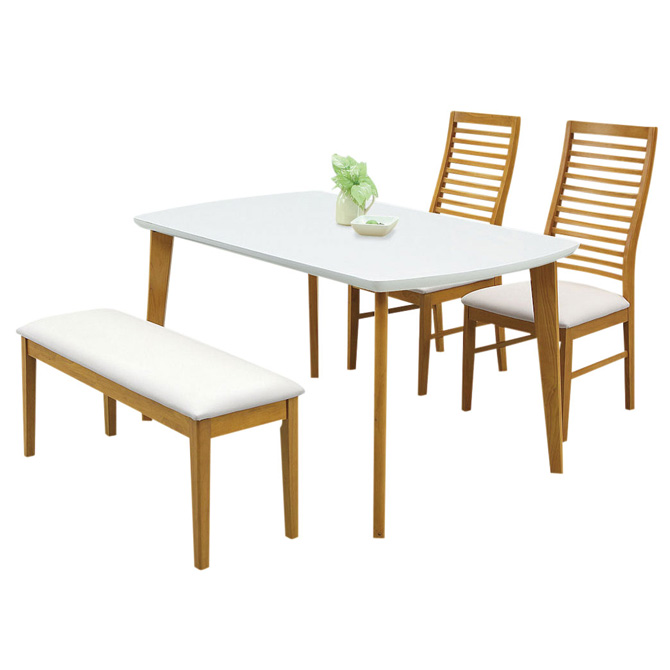 Wooden Dining 4 Set Dining Set Enamel Top Simple Stylish Design Dining  Table Set Dining Table