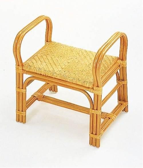 玄関で脱衣所でちょこっと腰掛けるのに最適! 籐ちょこっと座椅子ハイタイプ イス・チェア 籐製