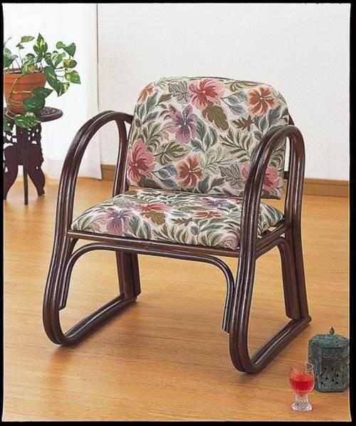 大人気のラクチン座椅子。 籐デラックス思いやり座椅子 イス・チェア 籐製 送料無料