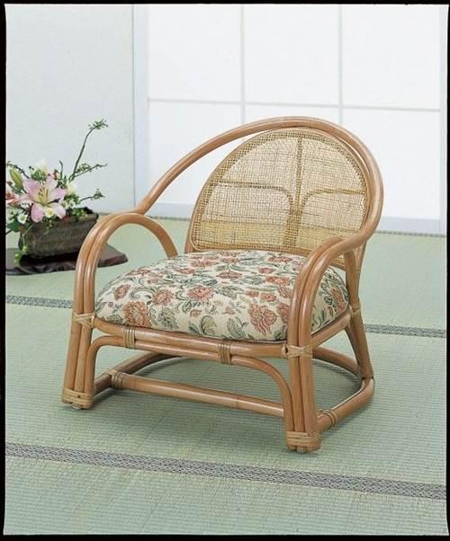 正座がつらい方ピッタリです。 アームチェアーロー1脚売 イス・チェア 座椅子 籐製