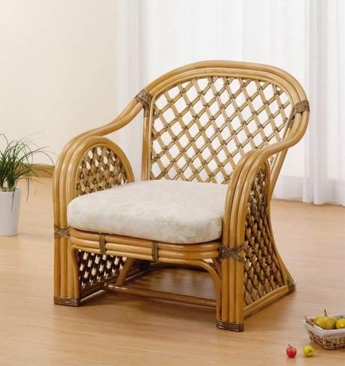 天然素材のやさしさを感じて アームチェアー イス・チェア 座椅子 籐製 送料無料