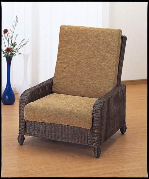 ヨーロピアン&アジアンテイストが融合したラタン製ハイパックチェアーです。 アームチェアー イス・チェア 座椅子 籐製 送料無料