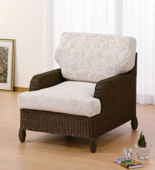 座り心地くつろぎスタイル。 アームチェアー イス・チェア 座椅子 籐製 送料無料