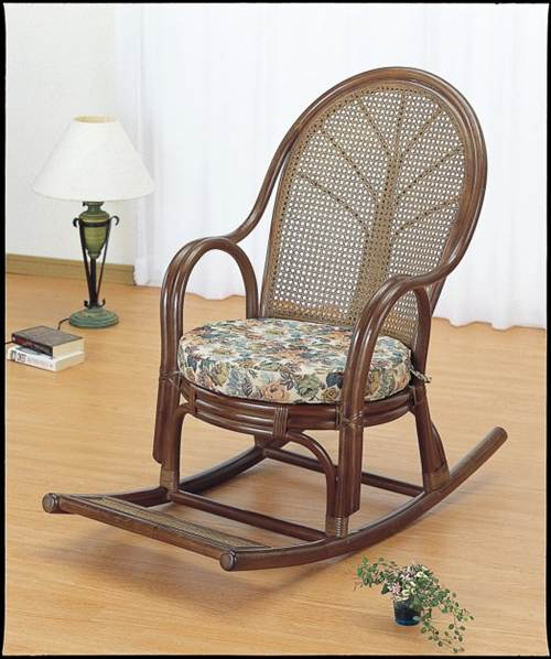心が和む籐製ロッキングチェアー ロッキングチェアー イス・チェア 座椅子 送料無料