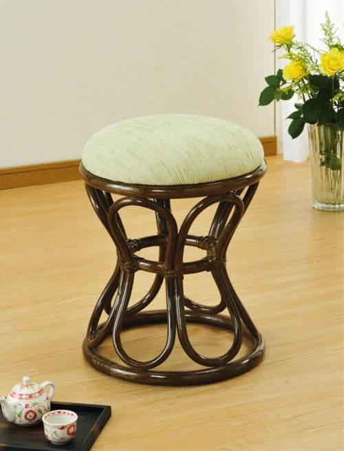 少し高めの座面高 籐スツール イス・チェア 座椅子 籐製