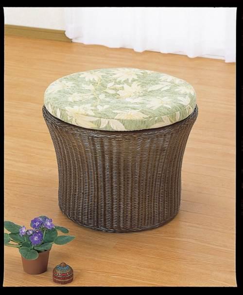 足をのばしたい方、正座が負担になる方に。 座布団スツールハイタイプ イス・チェア 座椅子 籐製 送料無料