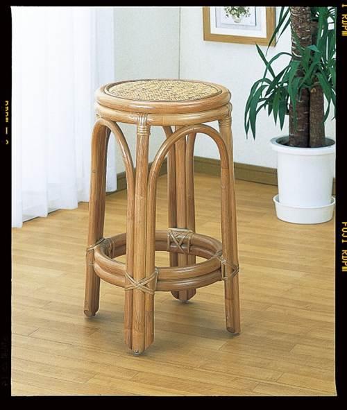 台所やハイカウンターでどうぞ。 スツール イス・チェア 座椅子 籐製