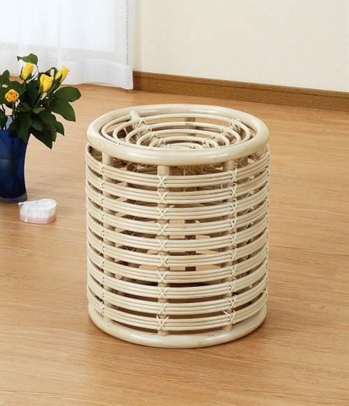 安定感のあるデザインで丈夫で長持ち スツール 籐製 ラタン