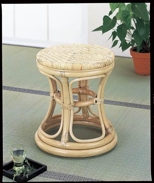 安定感のあるデザインで丈夫で長持ち スツール イス・チェア 座椅子 籐製