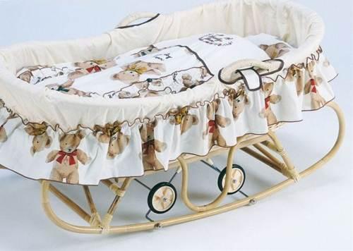 ゆりかご ヨーラン ベビーベッド 揺りかご やさしさ伝わる藤製のヨーランでゆらゆら・スヤスヤ・おやすみなさい。 藤ヨーラン 布団セット付 籐製 ラタン 送料無料