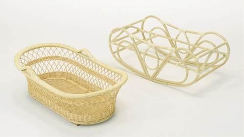 ゆりかご ヨーラン ベビーベッド 揺りかご 軽くて持ち運べるヨーランで、赤ちゃんはいつもママのそばに 藤ヨーラン フレームのみ 籐製 ラタン 送料無料
