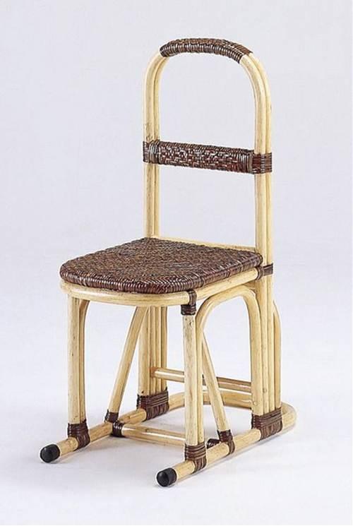 懐かしい質感と手仕事の温かみを楽しむ 藤ステッキチェアー イス・チェア 座椅子 籐製 送料無料