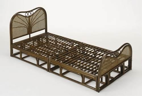 天然素材のナチュラルな風合いに包まれて。 籐ベッド シングルベッド 籐製 ラタン ベッドフレームのみ 送料無料 一人暮らし 1人暮らし 新生活 シングル シングルベッド シングルベット シングルサイズ