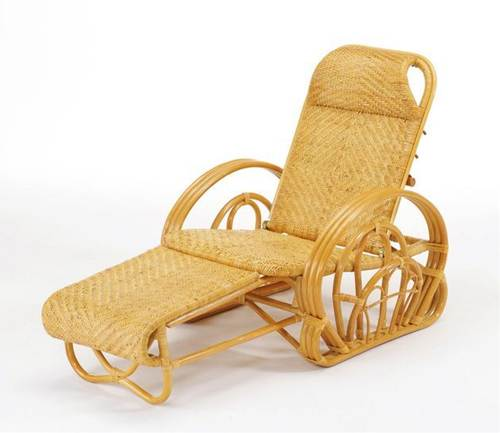 軽くて扱いやすい籐製リクライニングチェア。 籐三ツ折寝椅子 イス・チェア 座椅子 送料無料