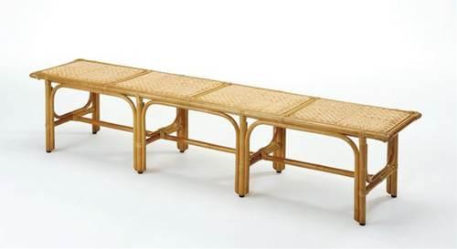 ベンチに腰掛けて靴が履ける、あると便利なエントランスベンチとしたも。 籐ベンチ・大 イス・チェア 座椅子 籐製 送料無料