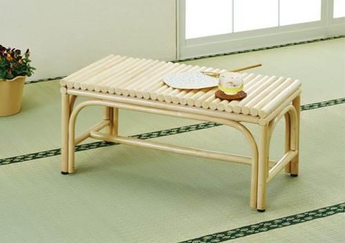 清潔&清涼感が高い天然ナチュラルカラー! 籐ベンチ イス・チェア 座椅子 籐製 送料無料
