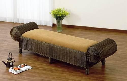 お客様待合用ベンチとして ベンチ イス・チェア 座椅子 籐製 送料無料