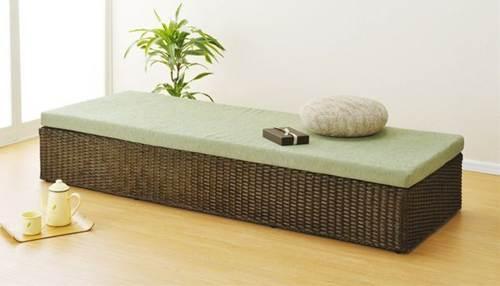 空間を高級感溢れるモダンな印象に演出!ラタンベンチやソファーとして、またはパーソナルベッドとしても。 籐ベッド&ベンチ イス・チェア 座椅子 籐製 送料無料