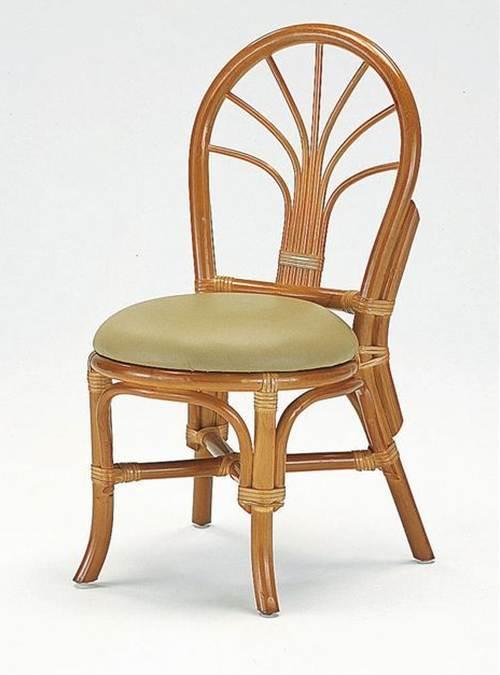 籐ダイニングチェアー イス・チェア 座椅子 籐製 送料無料