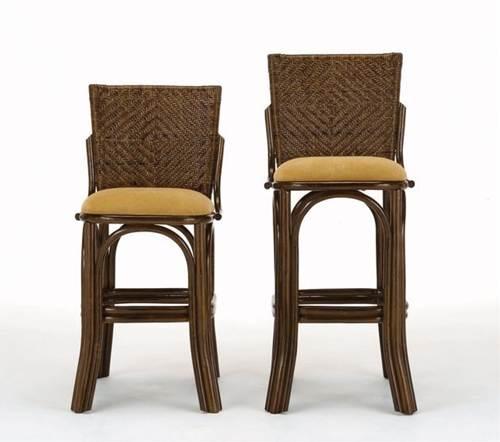 レストラン、カフェ、ホテル、バーなどのイスとしておすすめ。 籐カウンターチェアーロータイプ イス・チェア 座椅子 籐製 送料無料