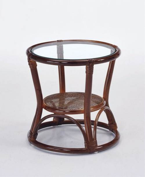籐の丸芯をスパイラルのように絞り込んだデザインが目を引くテーブルです。 サイドテーブル 籐製 ラタン ソファサイドテーブル