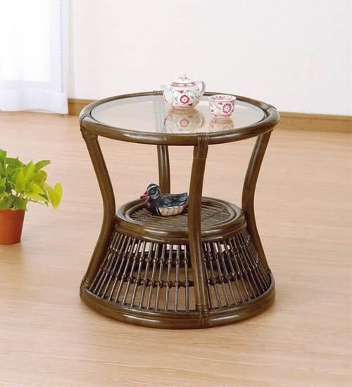 さまざまなシーンに馴染むシンプル&ナチュラルなテーブル。 サイドテーブル 籐製 ラタン ソファサイドテーブル