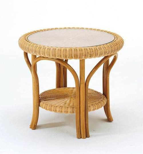 やわらかな曲線が優しい印象。 テーブル 籐製 ラタン 送料無料